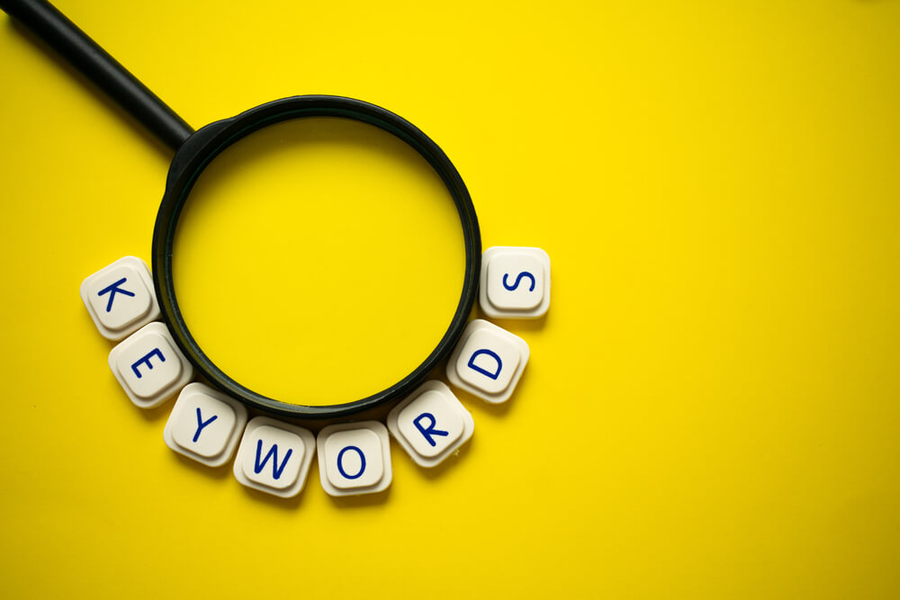 What is the importance of keywords in digital marketing?